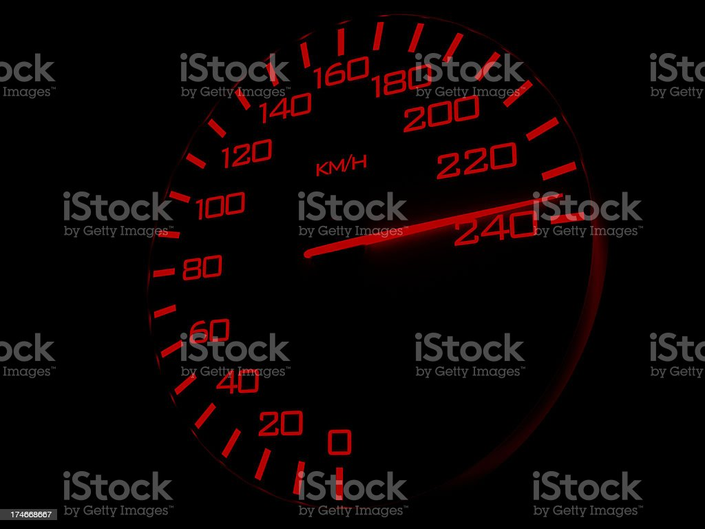 Highest speed (km/h) royalty-free stock photo