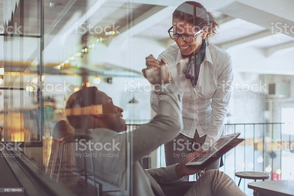High-five stock photo