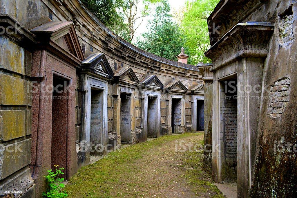 Highgate Cemetery stock photo