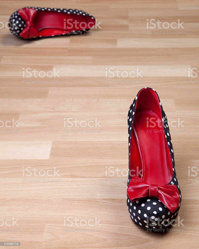 high-heel shoes,selective focus royalty-free stock photo