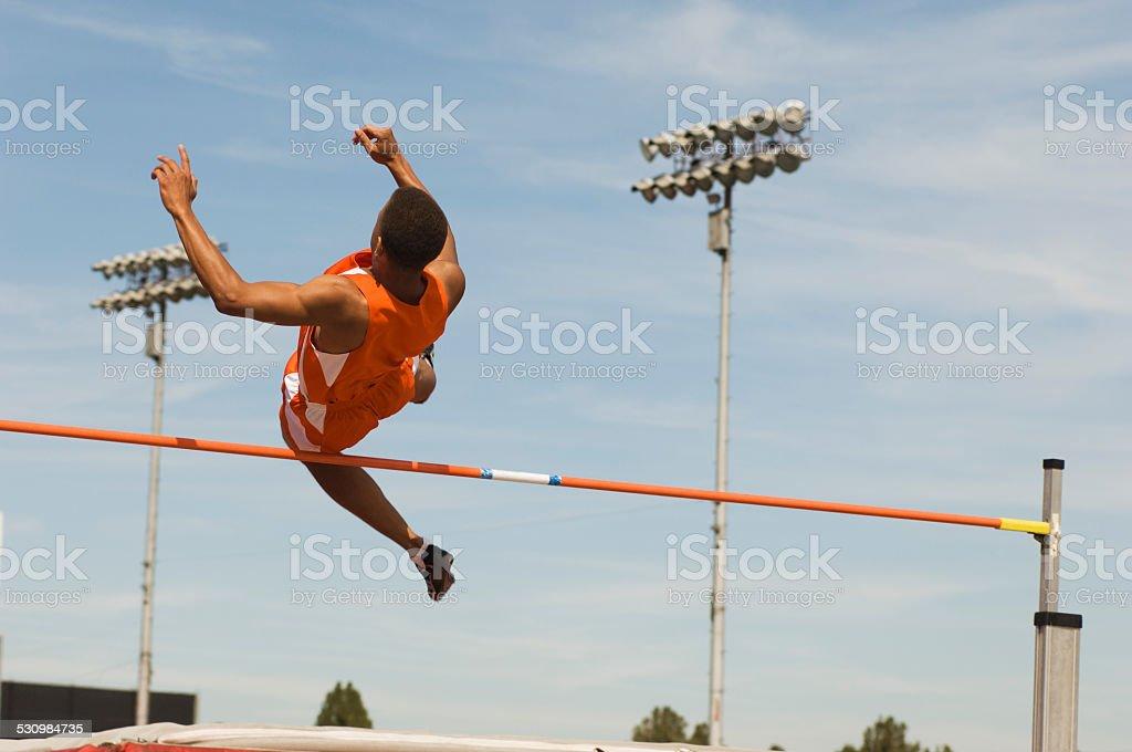 High-jumper stock photo