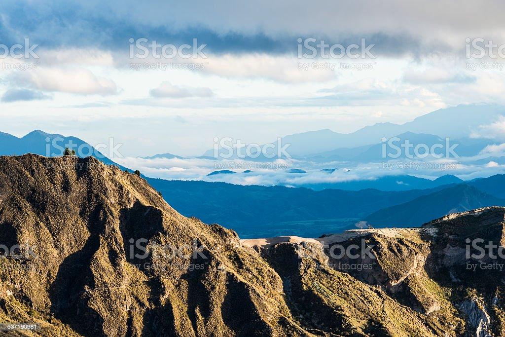 Highland Andes near Quilotoa lagoon, Ecuador, South America stock photo