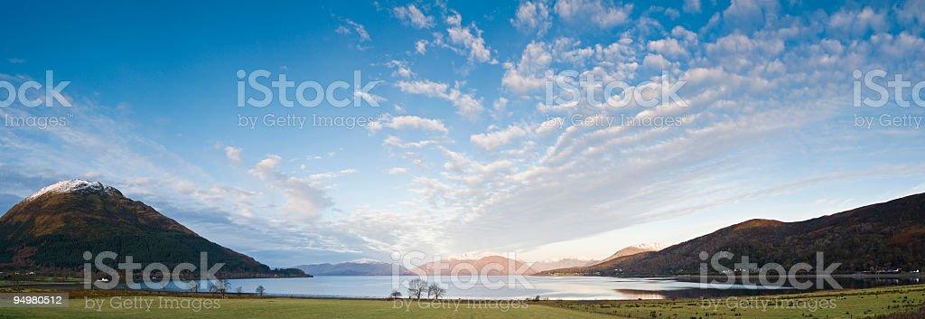 Highland big sky loch royalty-free stock photo