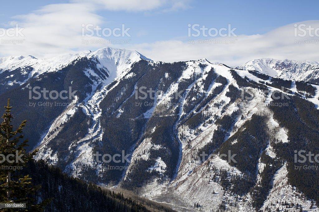 Highland Bowl at Aspen Highlands stock photo