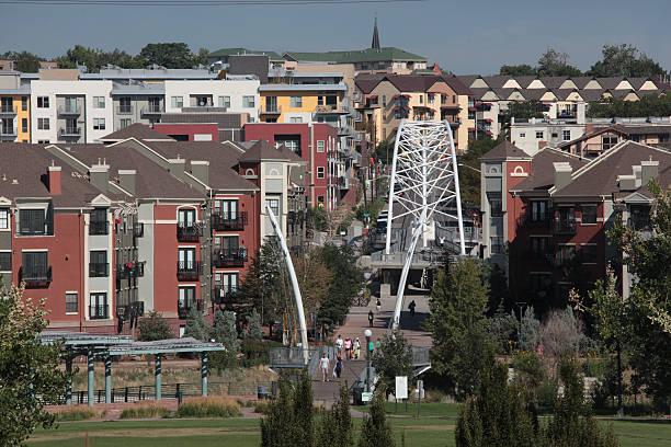 Highland Bridge in Denver stock photo