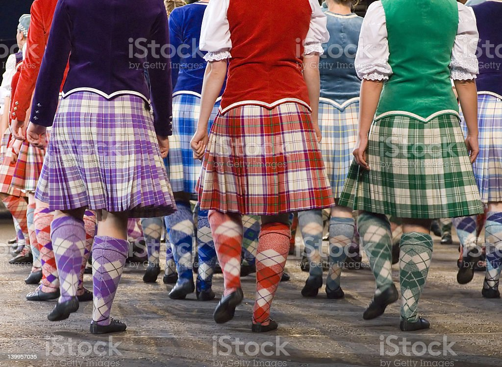 Highland dancers at 2006 Edinburgh Millitary Tattoo stock photo