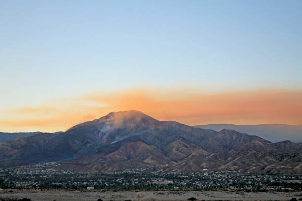 Highland Fire stock photo