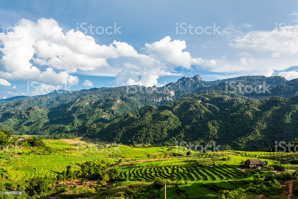 Highland in Northern of Viet Nam stock photo