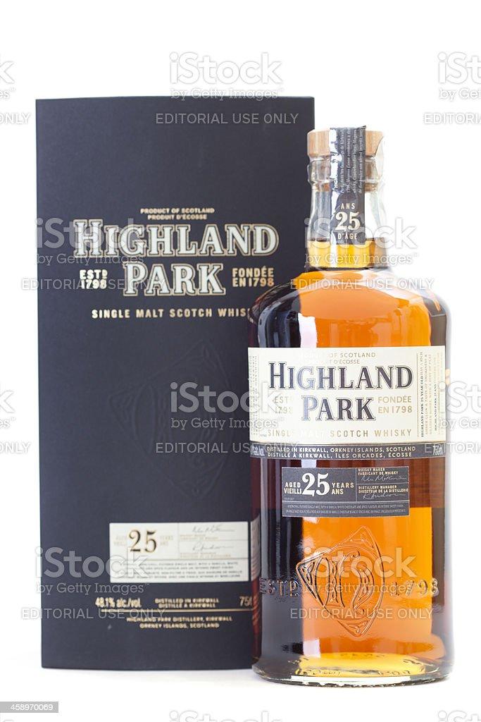 Highland Park 25year Scotch Whiskey stock photo