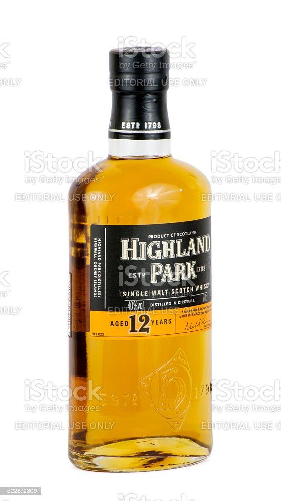 Highland Park Scotch Whisky - side stock photo