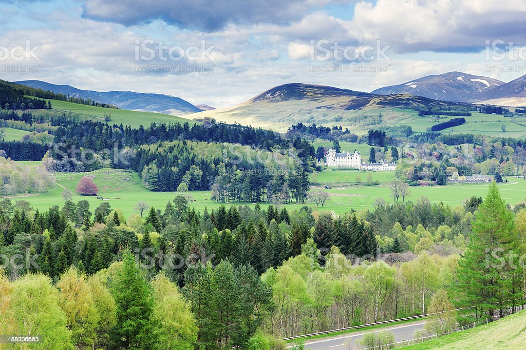 Highland Perthshire Scottish landscape stock photo