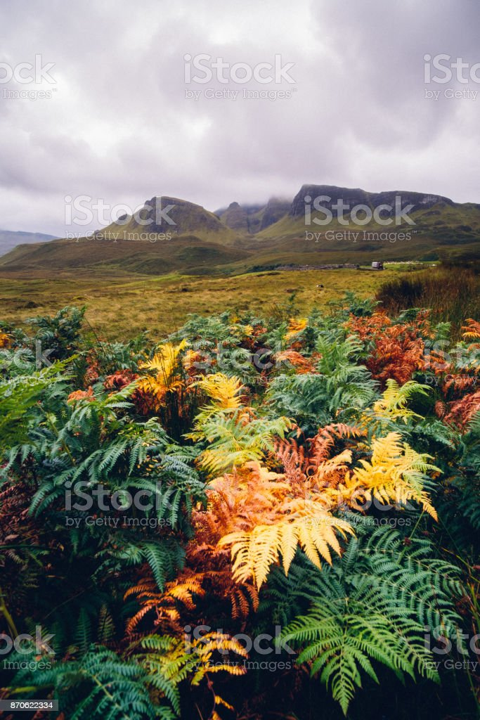 Highland scenery, Isle of Skye, Scotland stock photo