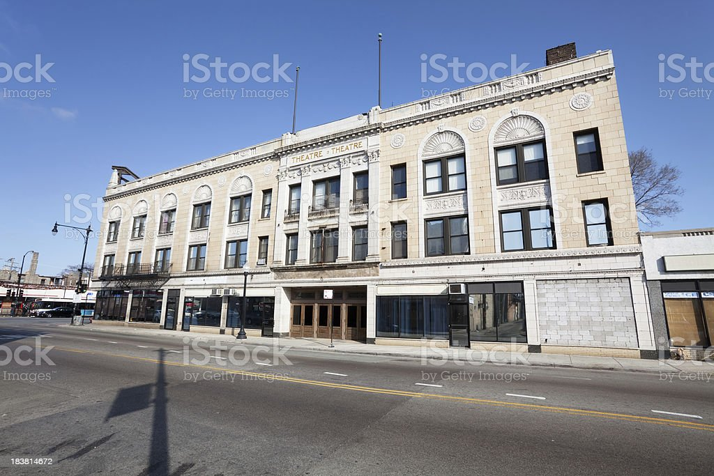Highland Theatre in Chicago royalty-free stock photo