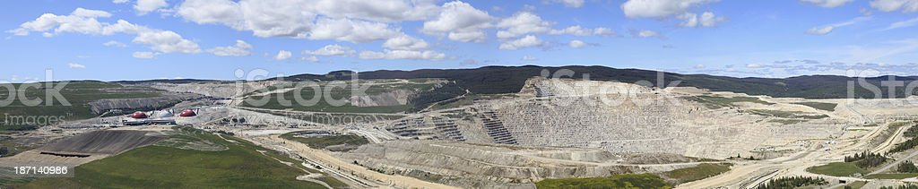 Highland Valley copper mine panorama view. stock photo
