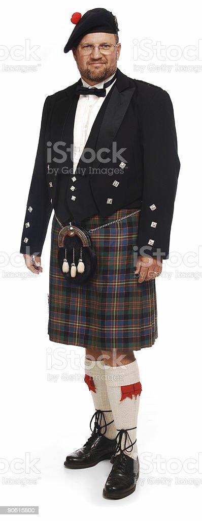 Fotografía de Highlander En Falda Escocesa Sobre Blanco y más banco ... a1294937357