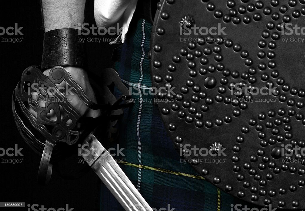 Highlander Sword & Targe royalty-free stock photo