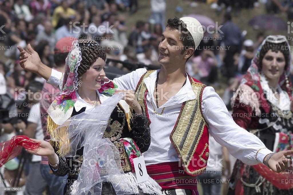 Highlanders Festival In Albania stock photo