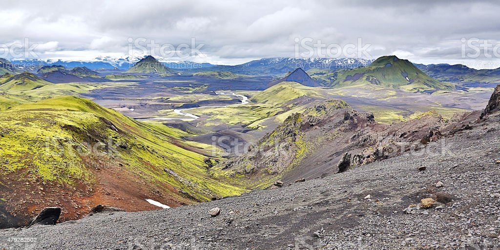 Highlands of Iceland stock photo