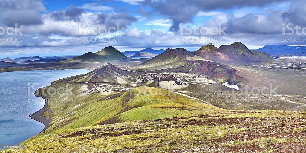 highlands of iceland stock photo