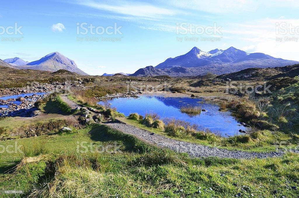 Highlands of Scotland stock photo