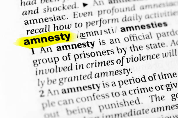 "Highlighted English word ""amnesty"" and its definition in the dictionary Highlighted English word ""amnesty"" and its definition in the dictionary. glossa stock pictures, royalty-free photos & images"