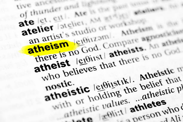 "Highlighted English word ""atheism"" and its definition in the dictionary Highlighted English word ""atheism"" and its definition in the dictionary. glossa stock pictures, royalty-free photos & images"