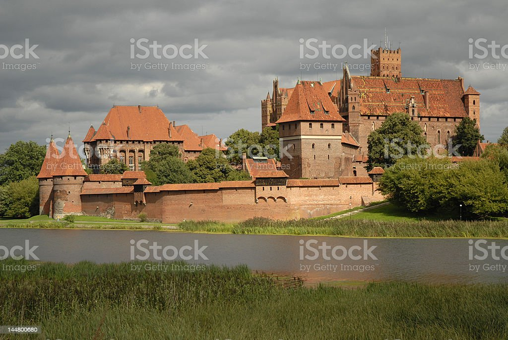 Highlighted Malbork castle royalty-free stock photo