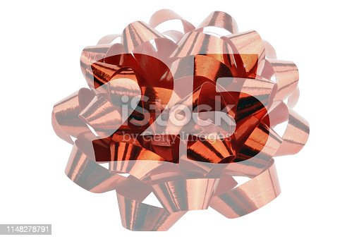 178269167istockphoto Highlighted number 25 before a macro shot of a red gift ribbon 1148278791