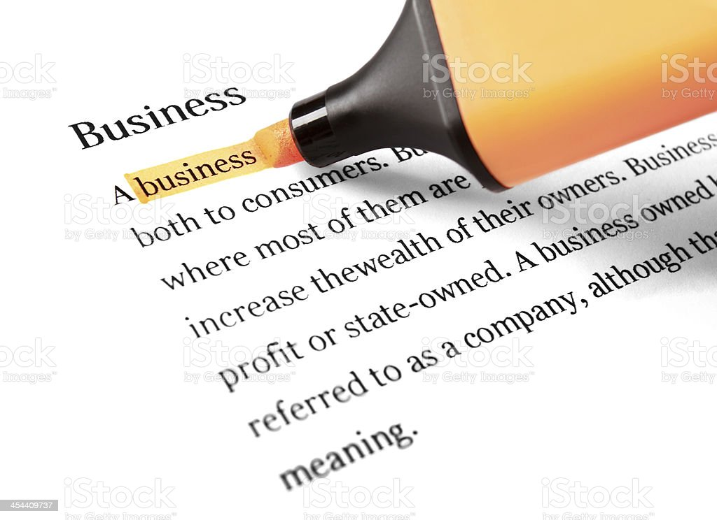 Highlighter and word business royalty-free stock photo