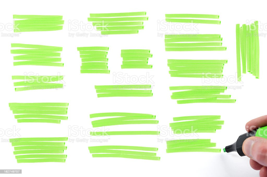 Highlighter marks royalty-free stock photo