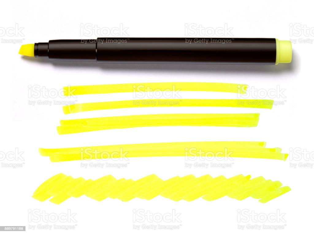 Highlighter Pen and Doodles stock photo