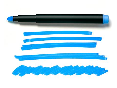 Markeerstift Pen En Doodles Stockfoto en meer beelden van Bericht