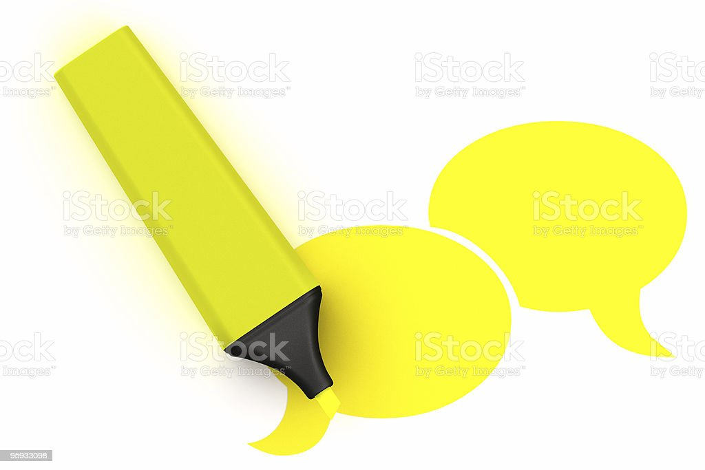 3D Highlighter Symbol royalty-free stock photo