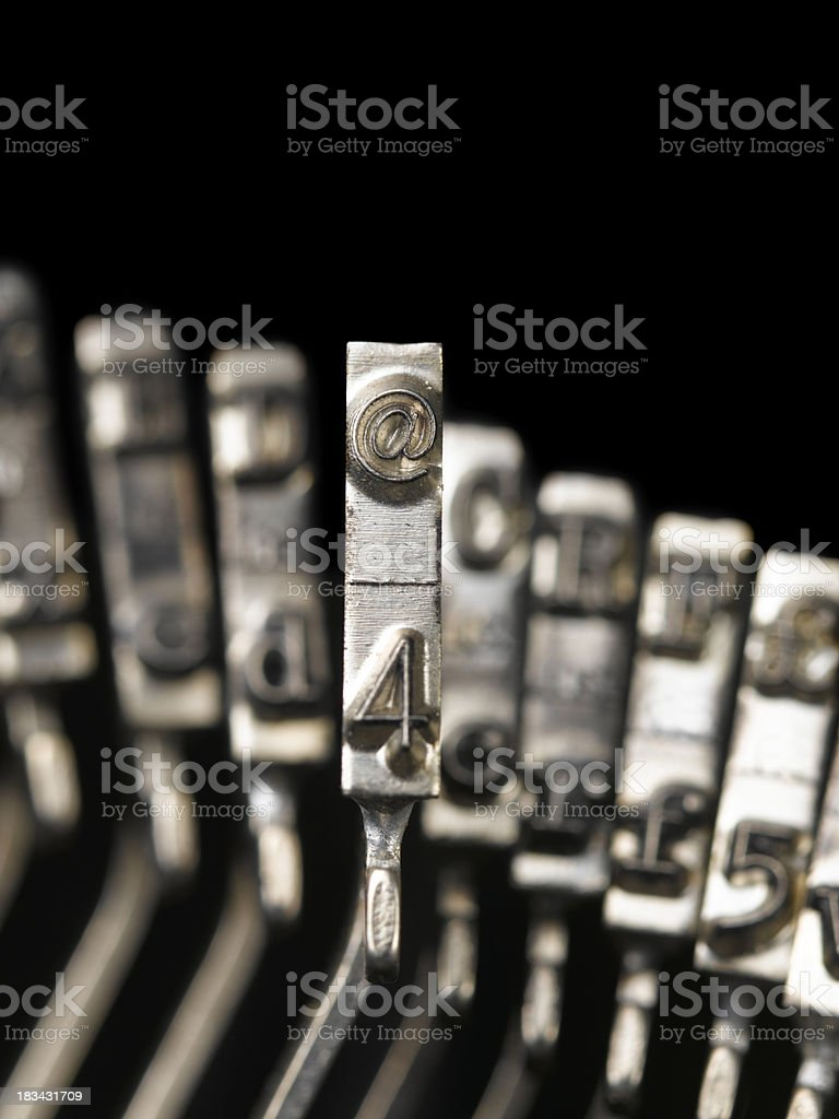 highlighting '@' royalty-free stock photo