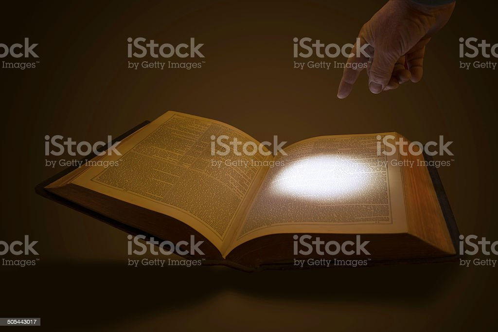 Highlighting Scripture stock photo