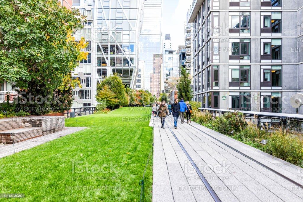 Captivating Highline, High Line Boardwalk, Walk, Urban Garden In New York City NYC With