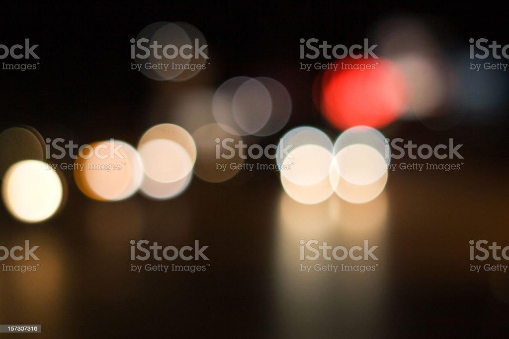 Highly defocused street lights royalty-free stock photo