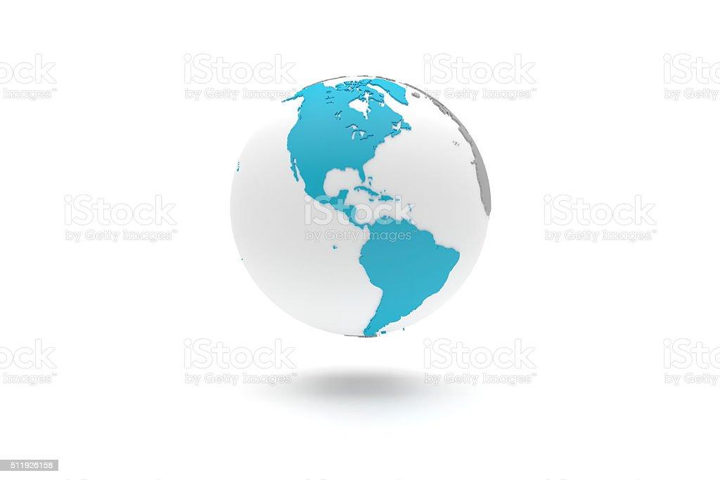 Altamente detalhada 3D planeta Terra globo, Américas - foto de acervo