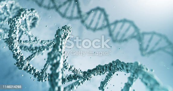 Beautifully rendered depiction of the human DNA, perfectly usable for a wide range of topics related to healthcare and medicine.