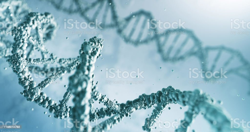 Highly Detailed DNA (Bright) stock photo