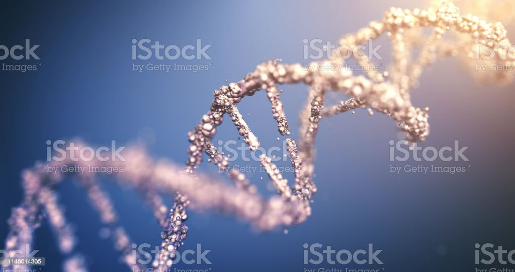 Highly Detailed DNA (Multi Colored) - Royalty-free Biochemistry Stock Photo
