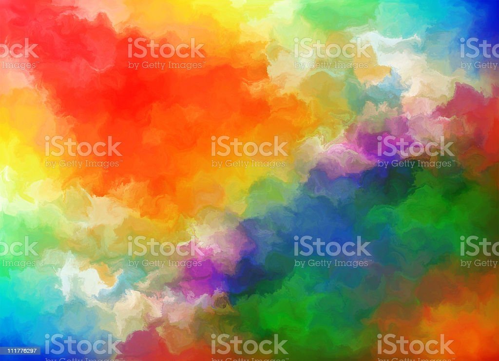 Highly detailed water coloured grunge paper XXL royalty-free stock photo