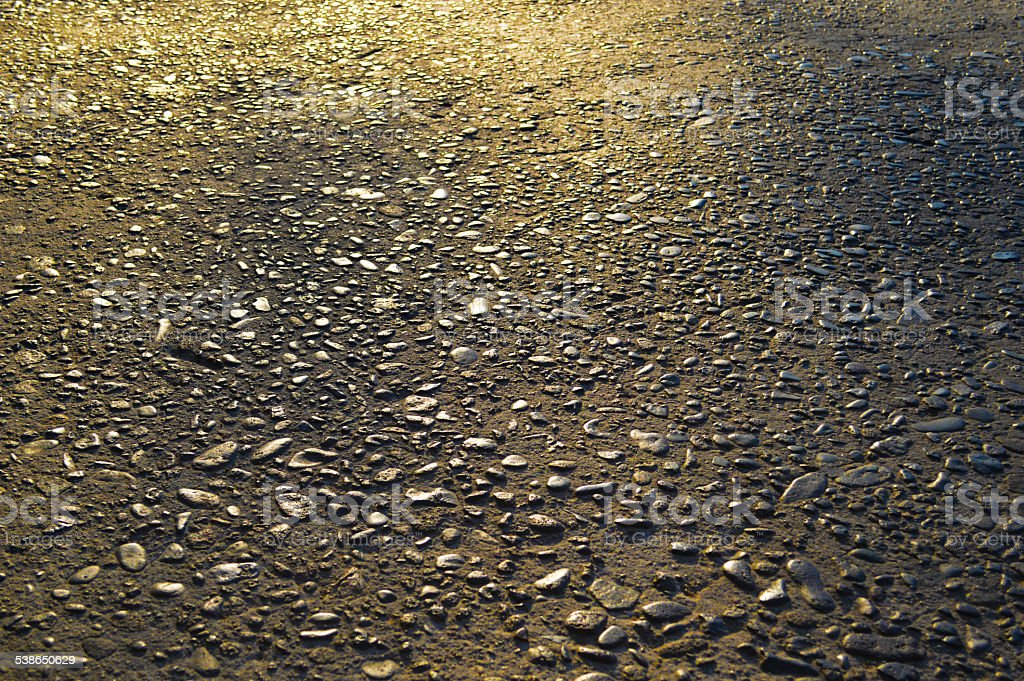 Highly textured concrete road royalty-free stock photo