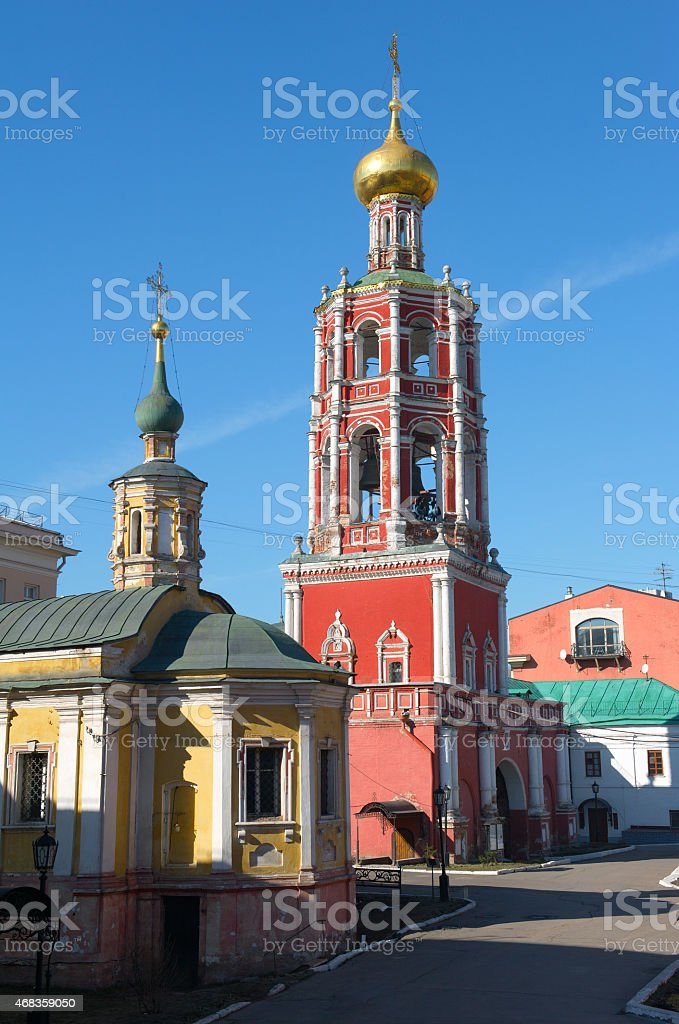 High-Petrovsky male monastery in Moscow royalty-free stock photo