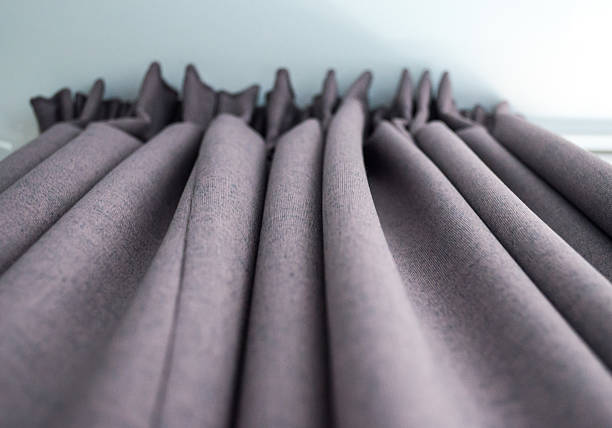 High-quality Grey Curtains Underneath View stock photo