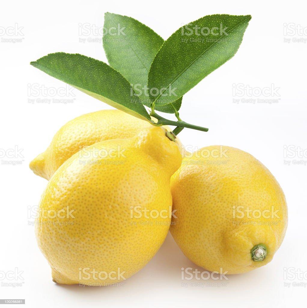 High-quality photo of ripe lemons. royalty-free stock photo
