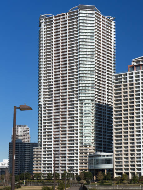 High-rise apartment in the coastal area stock photo