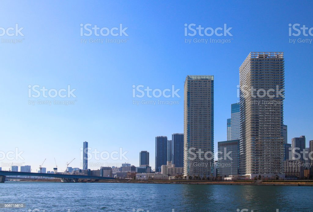 High-rise apartment stock photo