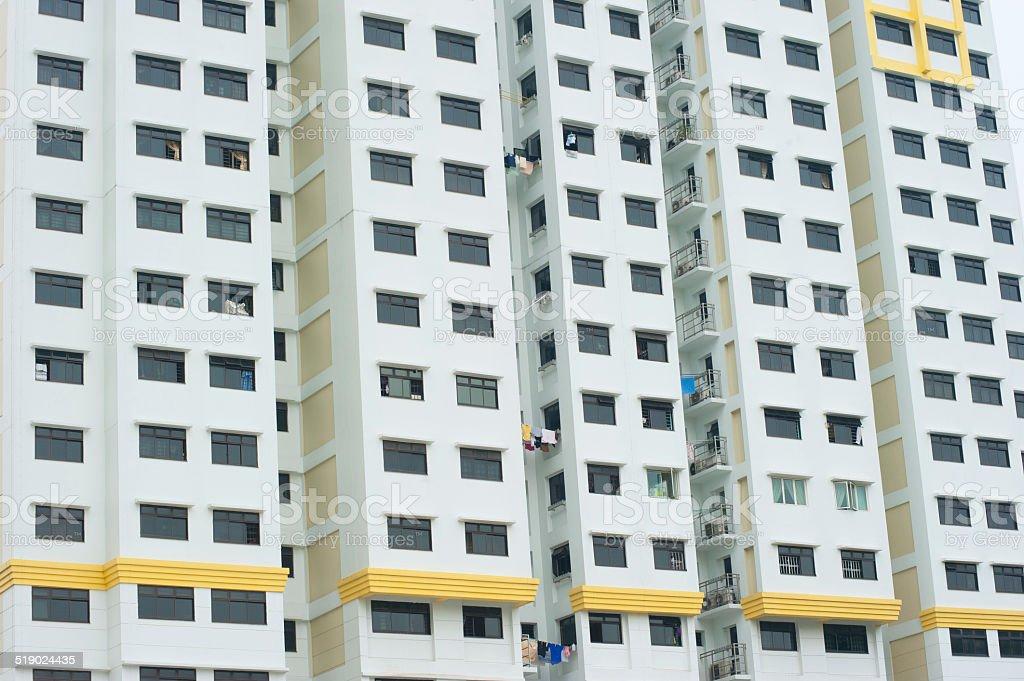 Highrise Apartments Blocks in Singapore stock photo