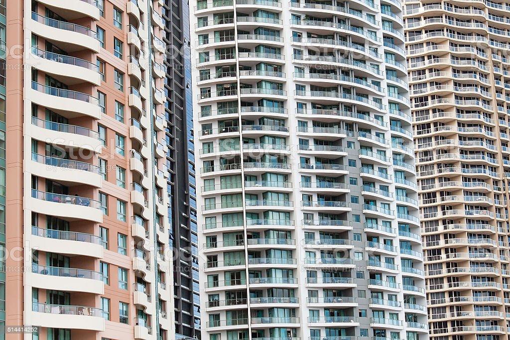 Highrise Apartments, Brisbane, Australia stock photo